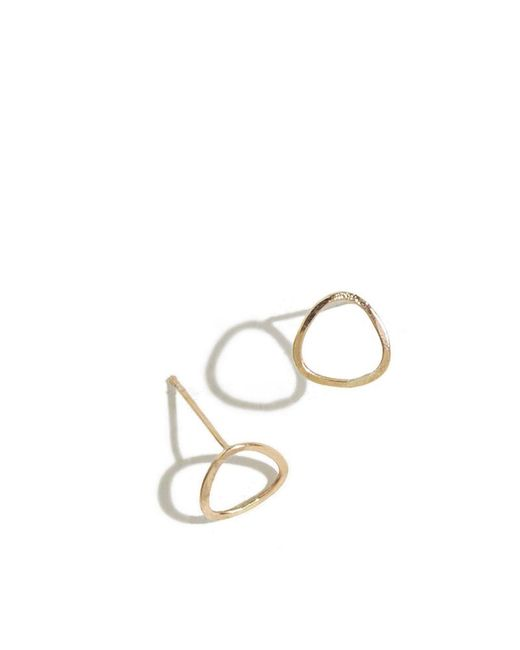 Melissa Joy Manning | Metallic Triangle Mini Stud Earring | Lyst