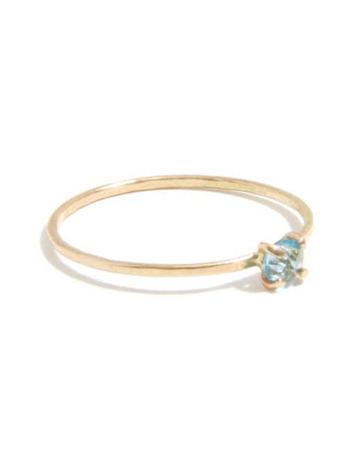 Melissa Joy Manning | Metallic Prong Set Blue Topaz Ring | Lyst