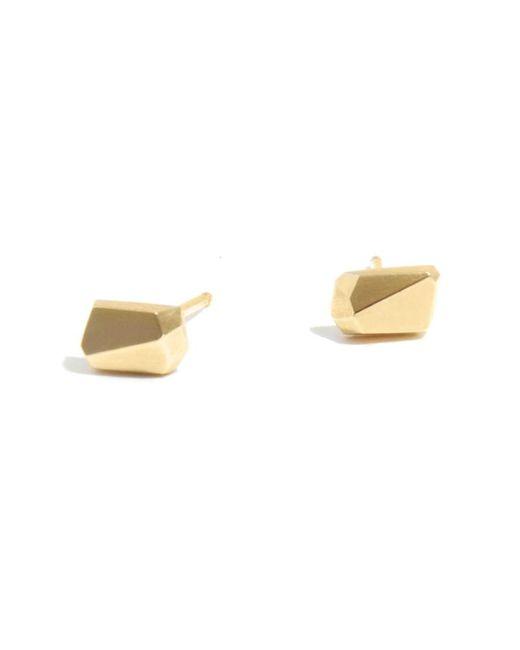 Melissa Joy Manning | Metallic Geometric Stud Earrings By Mute Object | Lyst