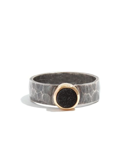Melissa Joy Manning | Metallic Silver Ring With Black Druzy | Lyst