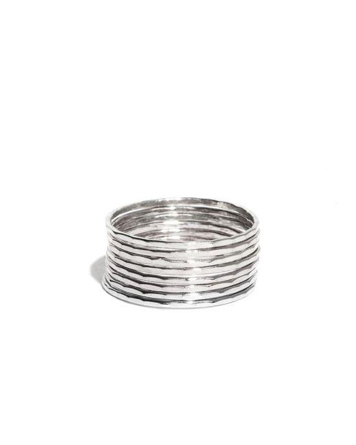 Melissa Joy Manning | Metallic Stacking Silver Rings | Lyst