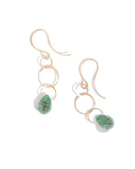 Melissa Joy Manning | Metallic Emerald Drop Earrings | Lyst