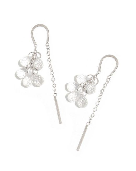 Melissa Joy Manning | Metallic White Topaz Five Drop Horseshoe Chain Earrings | Lyst