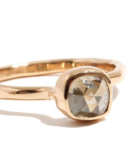 Melissa Joy Manning | Metallic .9 Carat Pale Yellow Square Rosecut Diamond Ring | Lyst