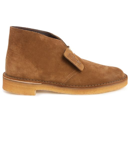 clarks cola suede desert boots in brown for lyst