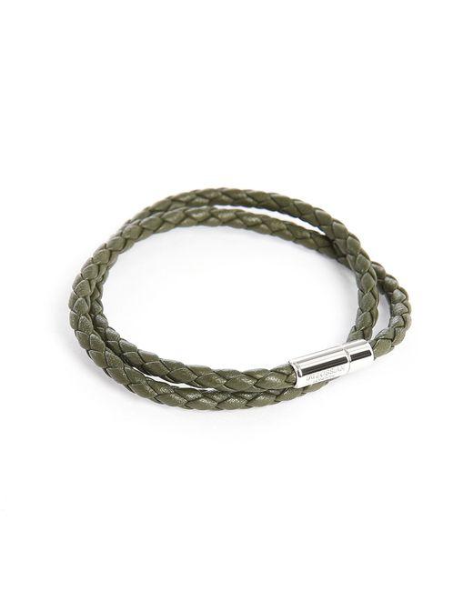 Tateossian | Green Scoubidou Double Leather 39 Cm Bracelet for Men | Lyst