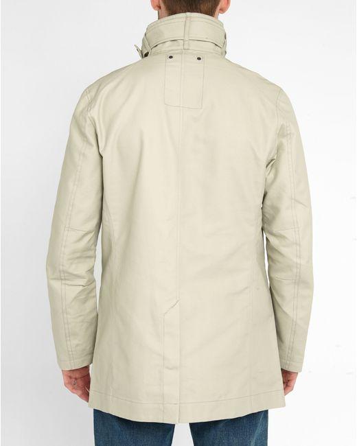 g star raw beige garber trench coat in natural for men lyst. Black Bedroom Furniture Sets. Home Design Ideas