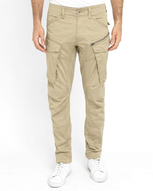 g star raw army beige rovic zip 3d cargo trousers in black. Black Bedroom Furniture Sets. Home Design Ideas
