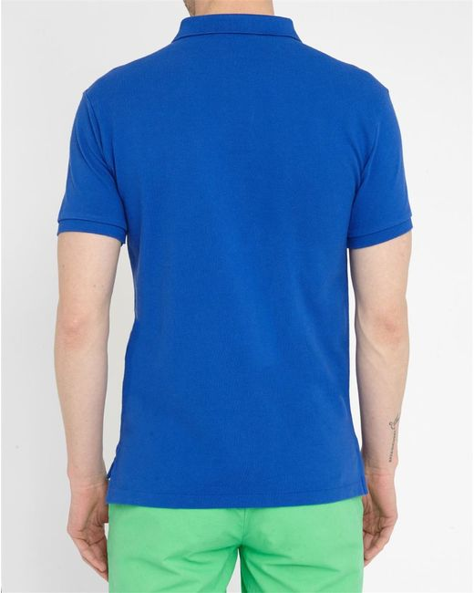 Polo Ralph Lauren Bright Royal Blue Slim Fit Polo Shirt In