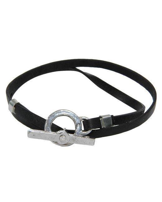 Gilbert Gilbert | Fastener Black Bracelet for Men | Lyst