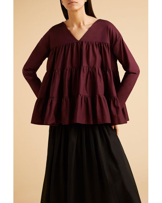 Merlette Red Sidonia Blouse?variant=39312791437414