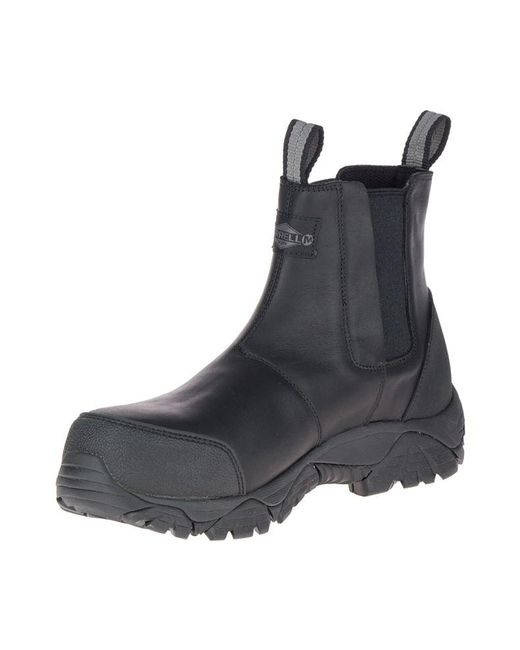 026b0f0f5b Men's Black Moab Rover Pull On Comp Toe Work Boot Wide Width