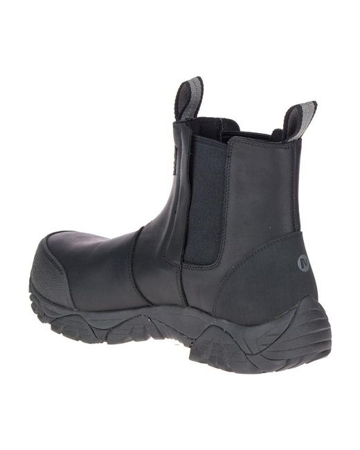 8ef50a3b66 Men's Black Moab Rover Pull On Comp Toe Work Boot Wide Width
