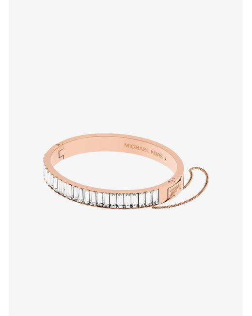 Michael Kors - Multicolor Rose Gold-tone Baguette Bracelet - Lyst