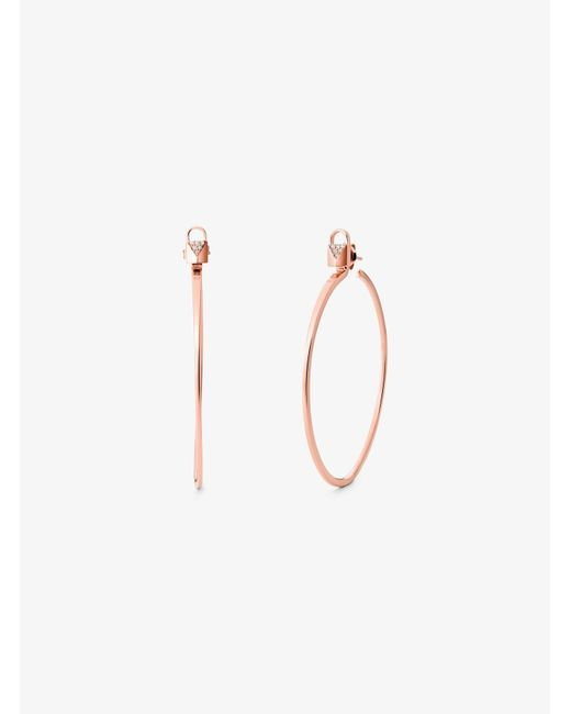 Michael Kors Metallic Precious Metal-plated Sterling Silver Interchangeable Hoops