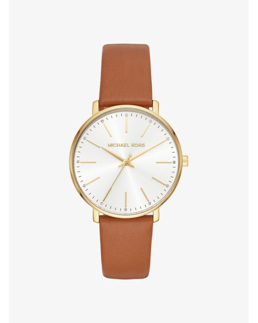 Reloj Pyper en tono dorado de piel Michael Kors de color Metallic