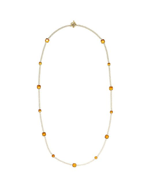 Michael Kors - Metallic Citrine Gold-tone Necklace - Lyst