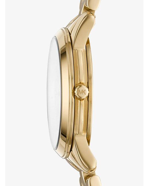 bfa16c8cfaf1 ... Michael Kors - Metallic Petite Runway Gold-tone Watch - Lyst