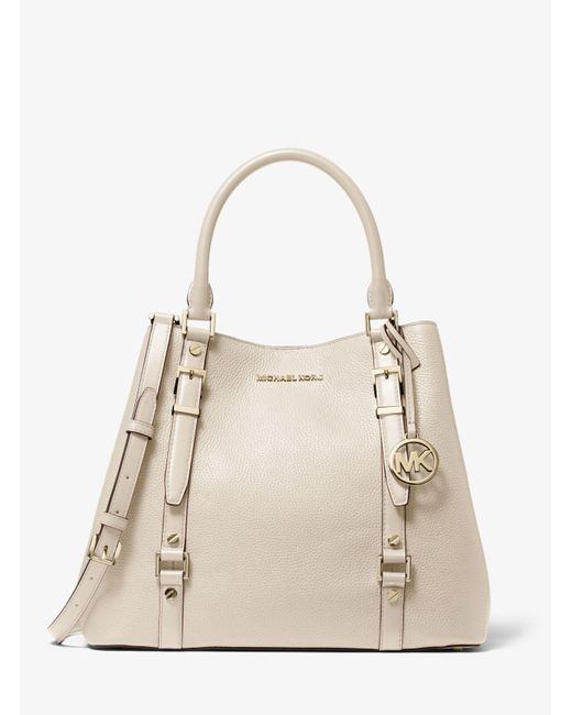 Michael Kors Natural Bedford Legacy Large Pebbled Leather Tote Bag