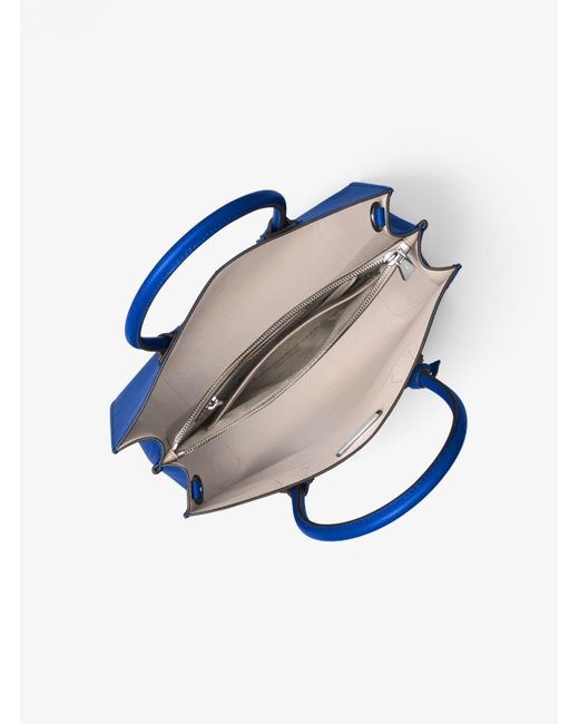 Michael Kors | Blue Mercer Large Leather Tote | Lyst