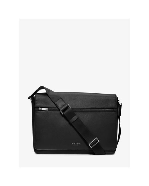 Michael Kors | Black Grain Leather Messenger Bag | Lyst