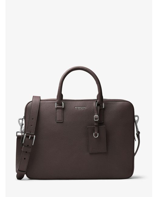 Michael Kors | Brown Bryant Large Leather Briefcase for Men | Lyst