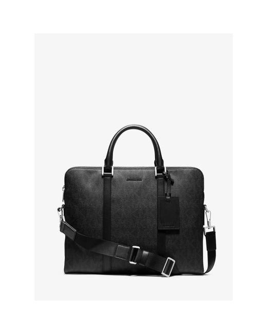 Michael Kors | Black Jet Set Logo Briefcase for Men | Lyst