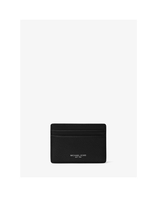 Michael Kors   Black Harrison Leather Card Case for Men   Lyst