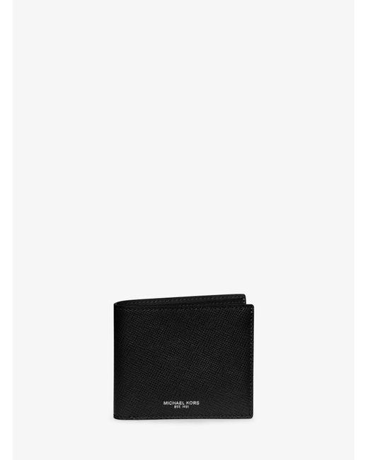 Michael Kors | Black Harrison Leather Billfold Wallet for Men | Lyst