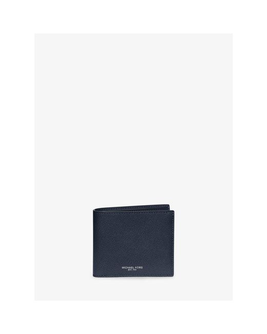 Michael Kors | Blue Harrison Leather Billfold Wallet for Men | Lyst