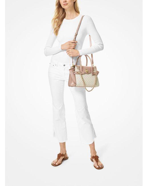 Petit sac porté main Carmen en cuir à ceinture et logo Cuir ...