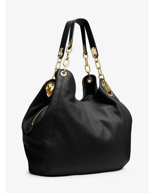 Michael Kors   Black Fulton Large Leather Shoulder Bag   Lyst