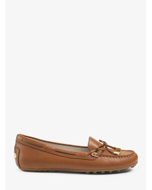 Michael Kors | Brown Daisy Leather Moccasin | Lyst