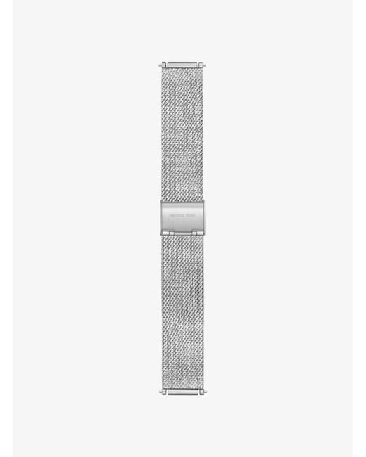 lyst michael kors sofie silver tone smartwatch strap in. Black Bedroom Furniture Sets. Home Design Ideas