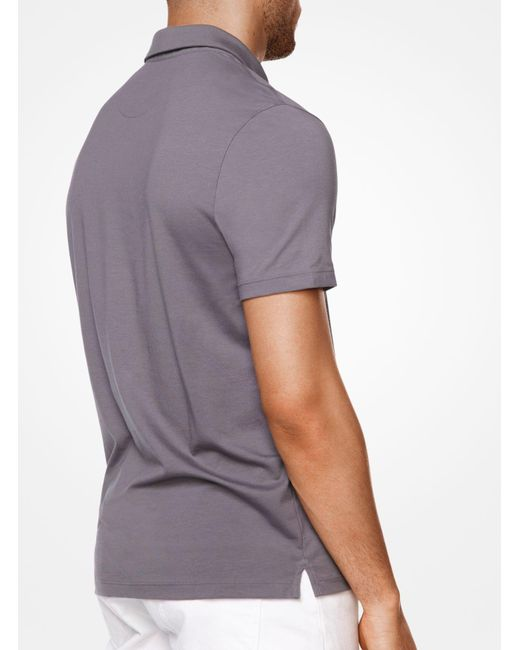 Michael Kors | Gray Cotton Polo Shirt for Men | Lyst