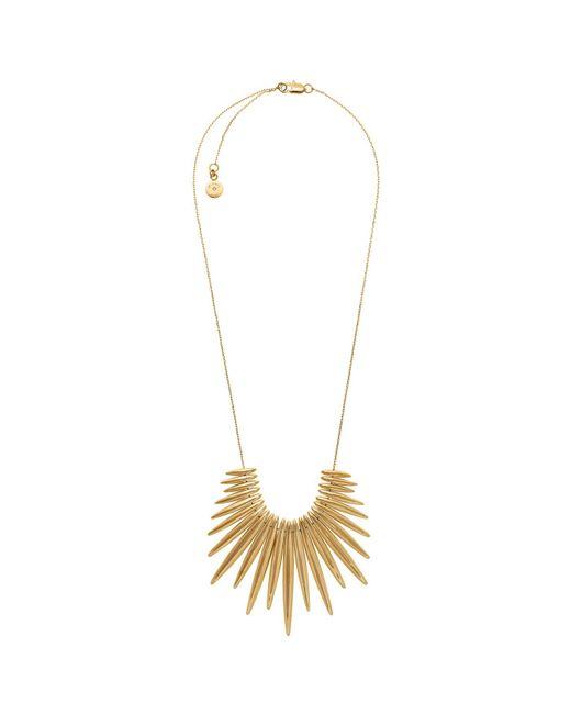 Michael Kors - Metallic Gold-tone Fringe Necklace - Lyst