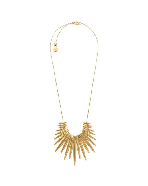 Michael Kors | Metallic Gold-tone Fringe Necklace | Lyst