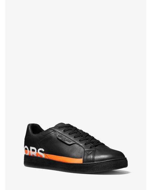 Michael Kors Black Sneaker Keating Aus Leder Mit Print