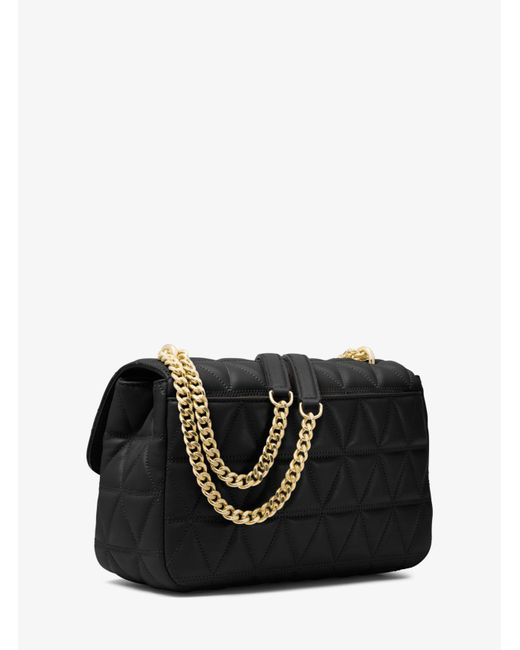 Michael Kors Black Sloan Large Quilted Leather Shoulder Bag