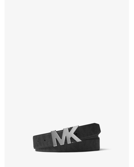 Cinturón Con Logotipo Michael Kors de hombre de color Black