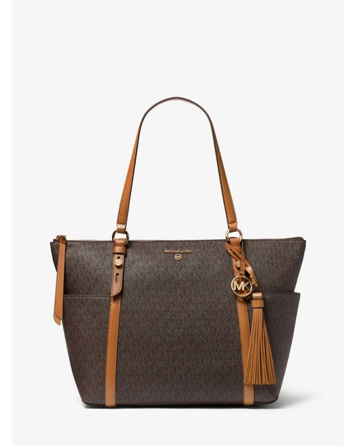 Women's Brown Nomad Small Logo Tote Bag