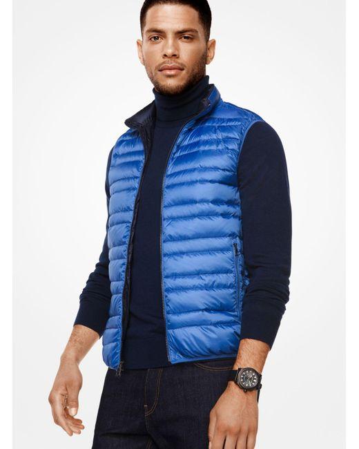 Michael Kors   Blue Quilted-nylon Vest for Men   Lyst