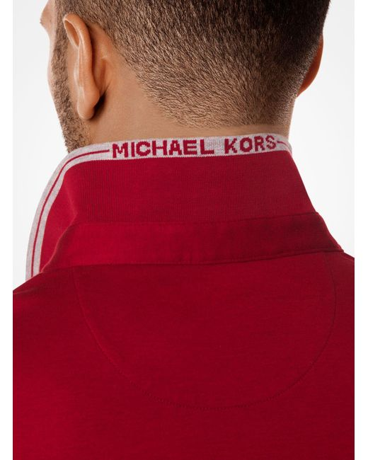 Michael Kors | Red Greenwich Cotton Polo Shirt for Men | Lyst