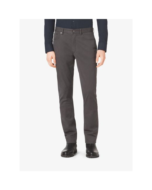 Michael Kors | Gray Tailored/classic-fit Stretch-cotton Twill Five-pocket Pants for Men | Lyst