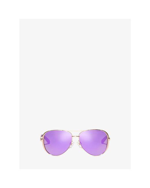 Michael Kors   Metallic Chelsea Sunglasses   Lyst