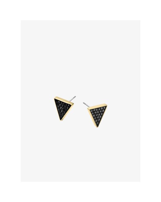 Michael Kors   Black Pavé Triangle Stud Earrings   Lyst