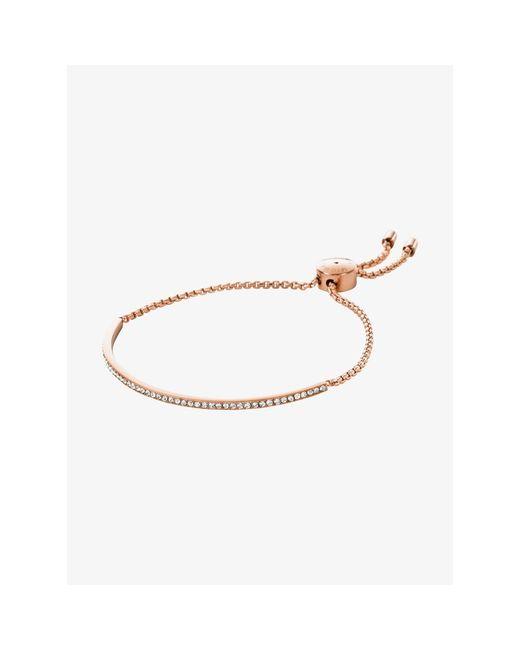 Michael Kors   Metallic Beaded Slider Bracelet   Lyst