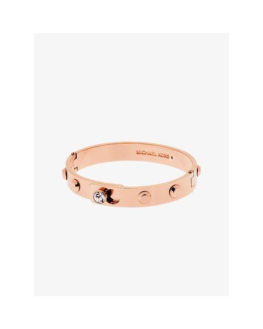Michael Kors | Pink Astor Rose Gold-tone Bangle | Lyst