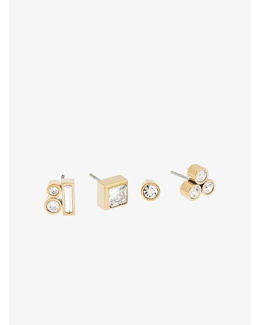 Michael Kors | Metallic Gold-tone Mix-and-match Stud Earrings | Lyst