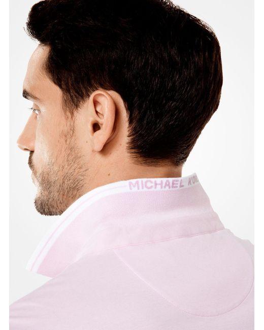 Michael Kors | Pink Greenwich Cotton Polo Shirt for Men | Lyst